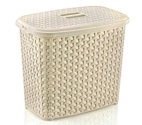 Plastic RATTAN Laundry Washing Powder Detergent Calgon Storage Box Tub