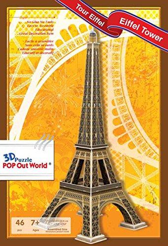 Paris Seine-touren (POP Out World 3D Puzzle - World Architecture Series