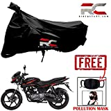 #5: Riderscart Bike Body Cover for Bajaj Pulsar 150 Polyester 190T Resistant UV Protection Cover & Anti Pollution PM 2.5 Face Mask Cotton