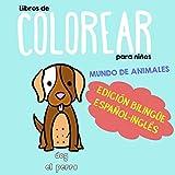Libros de Colorear para Niños - Edición Bilingüe Español-Inglés: Mundo de animales (Bilingual Toys Spanish English)