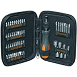Black and Decker A7104-XJ - Kit de 56 piezas para atornillar con atornillador de carraca