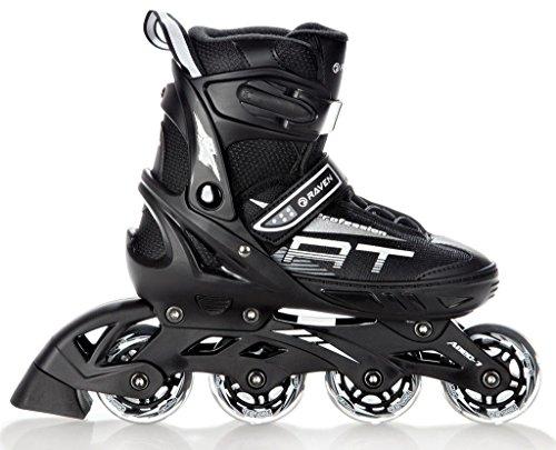 Raven Inline Skates Inliner Profession Black verstellbar (38-42(25cm-27,5cm))