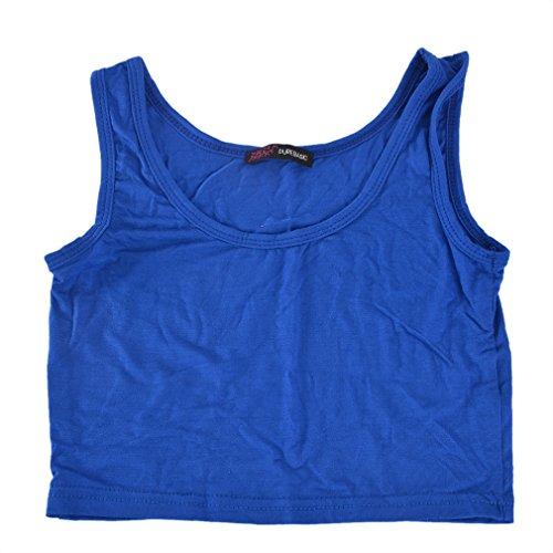 laamei Femme Soutien-Gorge Débardeurs Gilet Bustier Plage Haut court de sport Spéciaux Vêtements de Fitness pour yoga et course Saphir