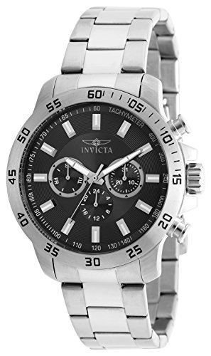 Invicta 21502 Specialty Men's Wrist Watch Stainless Steel Quartz Black Dial