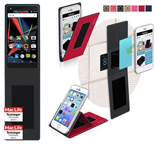 reboon Hülle für Archos Diamond 2 Note Tasche Cover Case Bumper   Rot   Testsieger