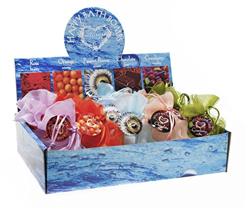 Boule de bain; Do HOME SPA yourself! Display: Bath Balls – Various scents - 15 pcs. Economical package!