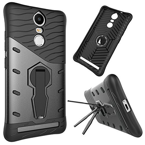 Chevron Lenovo K5 Note Back Cover - Galaxy Black [Sniper 360° Rotate Stand Version 3.0 Ultimate Warrior Case] [Air Cushion Technology - Shock Proof] [Dual Layer Impact Protection Kick Stand] For Lenovo K5 Note