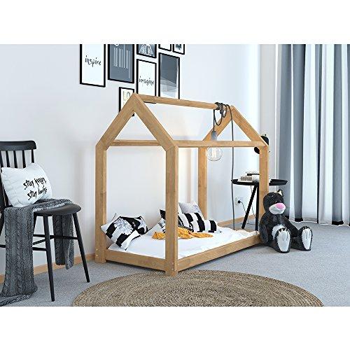VICCO Kinderbett Kinderhaus Bett Kinder Holz Haus Schlafen Spielbett ...