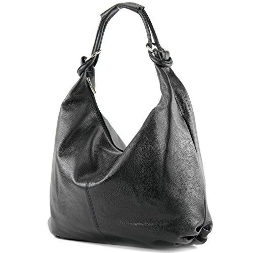 Made Italy Italian Bag Lady Bag Handbag Bag Leather Bag Leather 337, Accurate Color: Black