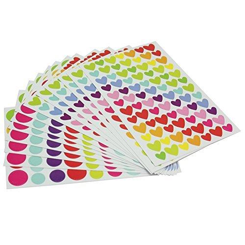 12x Feuilles Coeur Gommettes Fantaisie Scrapbooking Autocollant Stickers Enfants