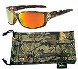 Hornz Forrest Braun Camouflage polarisierten Sonnenbrillen für Männer Voller Sport Rahmen & Freie Passende Beutel aus Mikrofaser – Braun Camo Rahmen – Orange Linse