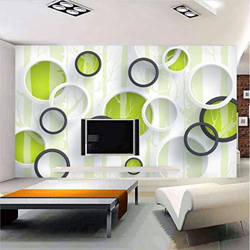 Amazhen Benutzerdefinierte 3D Wallpaper Moderne Einfache Künstlerische Wandbild Grüne Zyklus...
