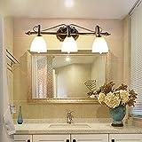 Retro Miroir Fer Forgé Salle de bains Simple LED américaine Applique...