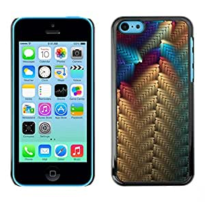 Omega Covers - Snap on Hard Back Case Cover Shell FOR Apple iPhone 5C - Beige Blue Purple Pattern