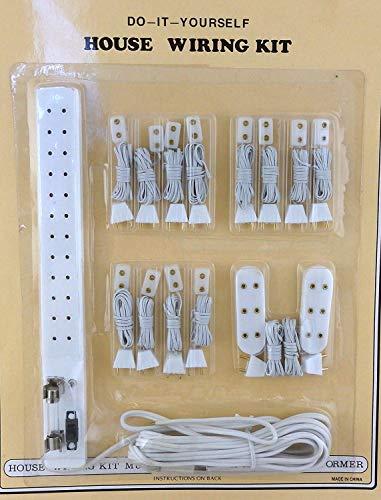 Melody Jane Puppenhaus Beleuchtung Zubehör Buchse Power Strip Beleuchtung Kit 15 Piece Set