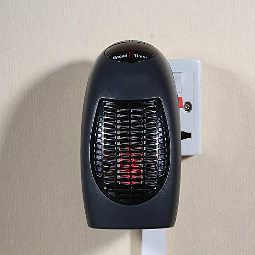Aibecy 400W Calentador Eléctrico Mini Ventilador Calentador de Escritorio Hogar Oficina Pared...
