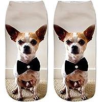 CHANGCJX 5 Paare 3D Print Socken Frauen Tier Socken BaumwolleUnisex Low Cut Socken