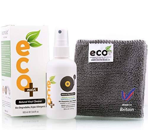Ecomoist Kit de nettoyage professionnel pour disques vinyles 100ml de Pure Organics. (100% sans alcool & ammoniac) Qualité suprême. Respectueux de l'environnement Hypoallergénique. Pour les CD aussi.