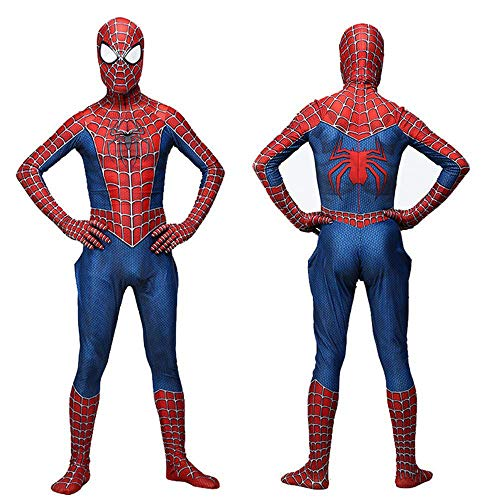 SDFXCV Superheld Spiderman Homecoming Avengers Kleidung, Adult Role Playing Neutral Lycra Spandex Strumpfhose, Halloween Kostüm,Adult-S(Height60-63Inch)