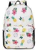Oflamn Zaino Scuola Superiore Media Ragazza Zaino Pc 14 Pollici Leggero - Floral School Backpack (2.0 ananas colorato)