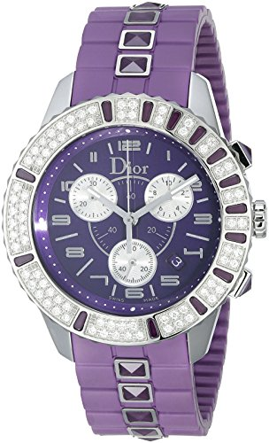 christian-dior-unisexe-cd11431jr001-christal-chronographe-diamant-violet-cadran