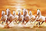 #9: HungOver Running Seven Horses Painting Vastu Poster for Home & Office