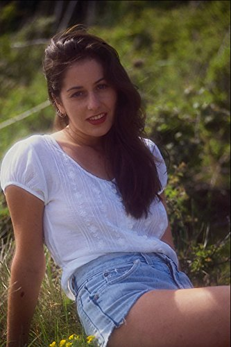 596056 Model With Long Black Hair And Cut off Denim Shorts A4 Photo Poster Print 10x8 (Cut-off-denim)