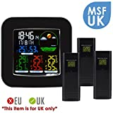 Wireless Colored Weather Station DCF Radio Controlled Clock, Indoor Outdoor Thermometer, Temperature °F - Best Reviews Guide
