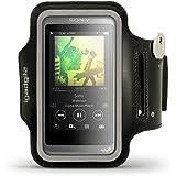 igadgitz Noir Brassard Sports Réfléchissante pour Sony Walkman NW-A35 Lecteur MP3 Armband Jogging Salle de Gym Avec Poche à Clé