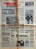 nouvelle republique la du 25 04 1973 les responsables cgt et cfdt de renault decus par leur entrevue a matignon objectif europe par van huan le retour des sioux par vazeilles brejnev hote de brandt dans un mois meeting macabre a brazzaville