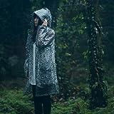 Derkang Stylish Must-have Leopard Print Hooded Raincoat Rain Jacket Lovely Girl