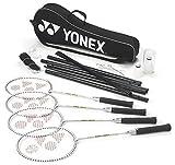 Yonex Schlägersportarten 4 Player Badminton Set