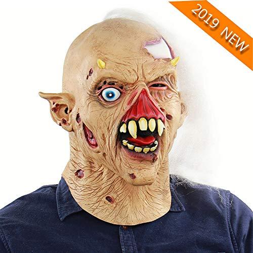 YVQO Scary Halloween Masken für Männer Herren Vollmasken Kostüm Erwachsene Vampir Kostüme Erwachsene - Scary Kostüm Männer