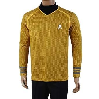 Star Trek Into Darkness Captain Kirk Shirt Uniform Costume Yellow