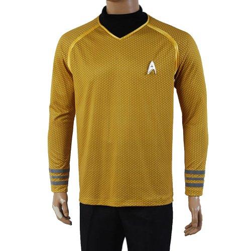 Star-Trek-Into-Darkness-T-Shirt-de-dguisement-Captain-JAMES-T-Kirk-uniforme