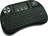 Quanmin I8 Mini 2.4Ghz Wireless Touchpad Keyboard With Mouse For Pc Pad Xbox 360 Ps3 Google Android Tv Box HTPC IPTV(Black)