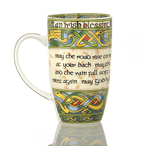 Eburya Irish Blessing Mug - Keltischer Kaffeebecher mit Dem berühmten Irischen Segen