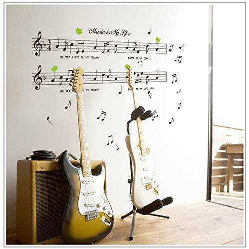 e Größe 70 * 120 Cm Musik Aufkleber Musik Ist Mein Leben Thema Musik Schlafzimmer Dekor & Tanz Musik Hinweis Abnehmbare Wand Aufkleber ()