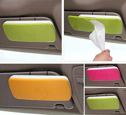 home cube sun-visor tissue box - convenient tissue box which fits on the sun-visor of your car - with free tissues - random color - set of 2 pc HOME CUBE Sun-Visor Tissue Box – Convenient Tissue Box Which Fits on the Sun-Visor of your Car – With Free Tissues – Random Color – Set Of 2 Pc 514jyms84wL