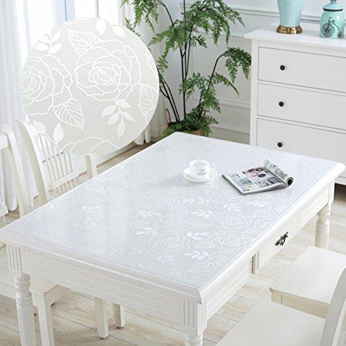 HM&DX PVC Kunststoff klar Tischdecken Wasserdicht Ölfreie Abwaschbar Tabelle cover tuch protektor Schreibunterlage Für küche kaffee esstische-Kristall 90x160cm(35x63inch)
