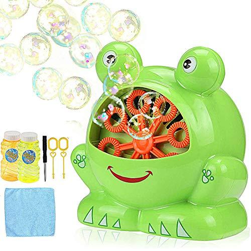 (Aibesser Seifenblasen Maschine Frosch Bubble Machine Batteriebetrieben für Geburtstagsfeier und Hochzeit,Bubble Blower Maker für Kinder(Grün) (Grün))