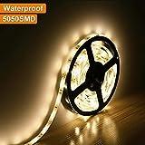 LE Lampux Tiras LED, Blanco cálido, 150 Unidades 5050 SMD LED, a prueba de agua, Luz de Cinta LED, paquete de 5 metros