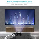 FairytaleMM Home Use HD 1080P LED Portable Projector Multimedia Home Movies Theater Cinema(Color:Black)