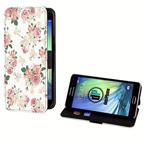 deinPhone Samsung Galaxy S3 Mini Kunstleder Flip Case Blumengestecke Weiß