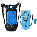 Zaino da minigonna da bicicletta 6L impermeabile, pacchetto idratazione con zaino da 2L Zaino da ciclismo da sci ciclismo da sci, zaino leggero da spalla traspirante per sport all'aria aperta (Blu)
