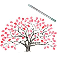 EQLEF® Los 30X40CM de la boda de la huella digital Libro árbol, huella digital