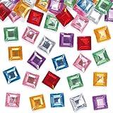 Baker Ross Selbstklebende, quadratische Mosaik-Schmucksteine aus Acryl für Kinder zum Dekorieren von Karten, Collagen und Bastelarbeiten (240 Stück)
