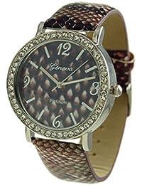 Geneva Python Print CZ rodeado Reloj