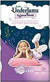 Pampers UnderJams Girls 10 Pyjama Pants - Size 7 (Small/Medium), 4 Packages of 10