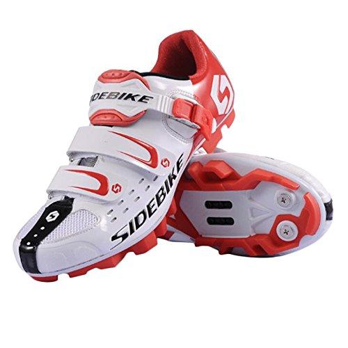 Scarpe Road Bike scarpe da ciclismo bici da corsa da uomo in diversi colori e dimensioni, Comfort e luce peso - WhiteRed